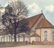 Vykort med motiv från Madesjö kyrka.