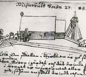 Teckning av Misterhults kyrka 1627