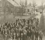 Personalen vid Flerohopps glasbruk 1942.