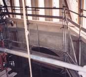 Restaurering av Gladhammar kyrka.