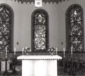 Altaret i Madesjö kyrka.