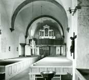 Interiör från Gärdslösa kyrka efter restaureringen 1957-1958-