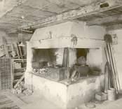 Köket i västra flygeln.