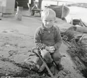 Lennart Sundgren 4 år. Foto: 18708 1951.