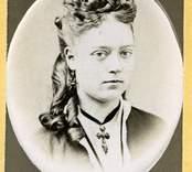 En okänd kvinna, fotograferad av Hilma Flodman i Oskarshamn.