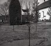 Vindflöjar på kyrkogården till Hallingeberg kyrka.