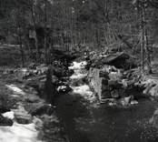 Lämningar efter Gladhammars kopparhytta. 1954.