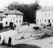 Torget i Gamleby omkring 1900.