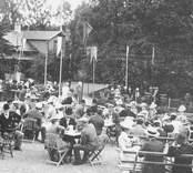 Fest i Nybro Badhuspark 1908.