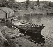 Småland, Kalmar län, Misterhult socken - Strupö. Storökan av år 1875 förtöjd i hamnen i Strupö.