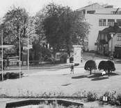Stadshusplan och Järnvägsparken i Nybro.