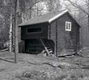 En loftbod vid hembygdsgården i Kristdala socken.