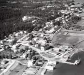 Flygbild över Loftahammar.