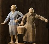 Mor och dotter  [Skulpturgrupp]