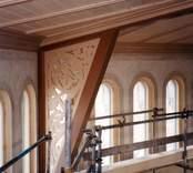 Från renoveringen av Gladhammars kyrka.