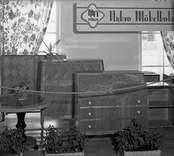 Hantverksutställningen 1947 i Kalmar. Paviljongen för Nybro Möbelfabrik.