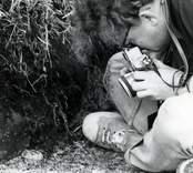 Fotografering av fynd från Skedemosse.