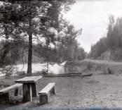 Vägparti med rastplats, söder om Falsterbo.