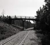Bro över SJ sydost om Forshult i Oskarshamns kommun. Foto, från väster.