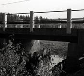 Bro över Illerns utlopp, Illån vid Lömmhult i Oskarshamn. Foto, nedströms från nordnordväst.