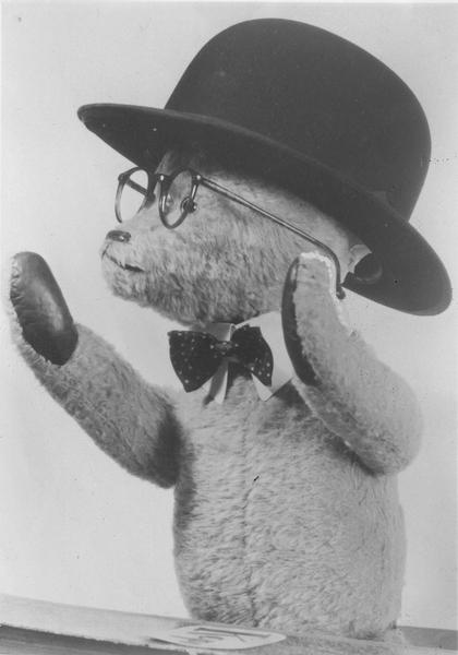 Teddybjørn - reklame for Fotograf Schrøder (Foto/Photo)