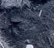 En arkeologisk fyndplats i Skedemosse 15/6 1962.