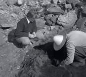 Utgrävning vid Skedemosse.