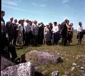 Arkeologisk undersökning vid Skedemosse med professor Mårten Stenberger.