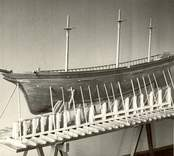 Modell av Indien av Västervik, Kalmar navigationsskola