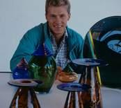 Orrefors Glasbruk  förman Jan Karlsson Orrefors.
