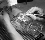 Glaskonstnären Leif Swahn, Orrefors glasbruk.