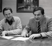 Kährs, Nybro. Arbetsledaren Helmer Johansson och VD Ola Wilhelmsson.