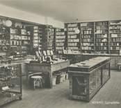 Interiör från Ljungdahls bokhandel i Nybro.