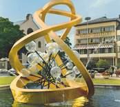 Fontänen Glas i centrum, gjord av Vicke Lindstrand och invigd 1968.