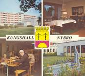 Vykort från Nybro med motiv från äldreboendet i Kungshall.