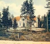 Vykort med motiv av sjukstugan i Nybro