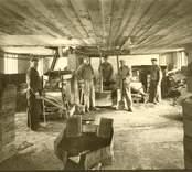 Kalksandstegelfabriken inifrån poolblocksframställningen tidigt 1940- tal