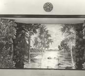 Fond i Mörtfors Folkets hus. Målad och skänkt av konstnären Otto Jansson,1945.