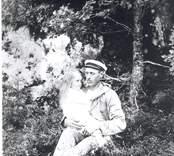 Herman Fredriksson (farbror till Emil Karlsson) med dottern Svea.