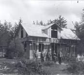 Byggnadsarbete i Späckemåla.