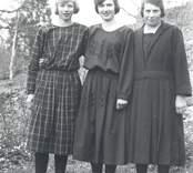 Porträtt av tre kvinnor från Blankaholm.