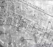 Oskarshamn gammal karta över staden.