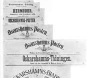 Tidningshuvud för Oskarshamnstidningar.