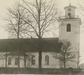 Vykort föreställande Bäckebo kyrka.