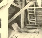 Interiör från Loftahammar kyrkas torn.