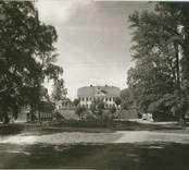Fredriksbergs herrgård. Huvudbyggnaden sedd från allén.