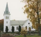 Dalhems kyrka. Foton från renoveringen 1993.