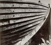 """Marknadsbåten """"Helena"""" av Väderskär, fören. Foto:Nils J Nilsson 875/51"""