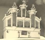 Loftahammar kyrkas orgel, byggd 1767 av Lars Wahlberg.
