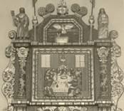 Altartavla i Loftahammars kyrka, signerad  LB (Lars Boether, anno 1730)